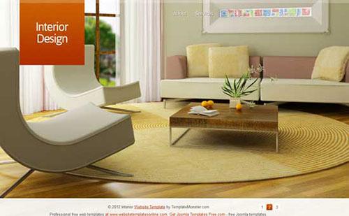 Free HTML5 CSS3 Interior Design Template