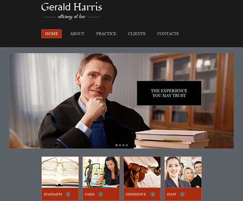 free html5 css3 templates Law & Legal