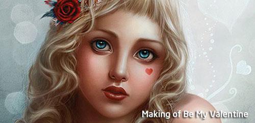 Making of Be My Valentine1 Valentine Design