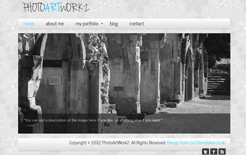 PhotoArtWork2 Photography CSS3 Template