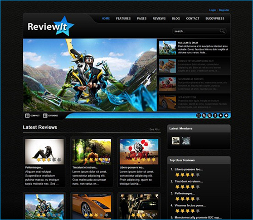 Review WordPress Theme