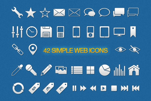 Simple Vector Icons for Designers