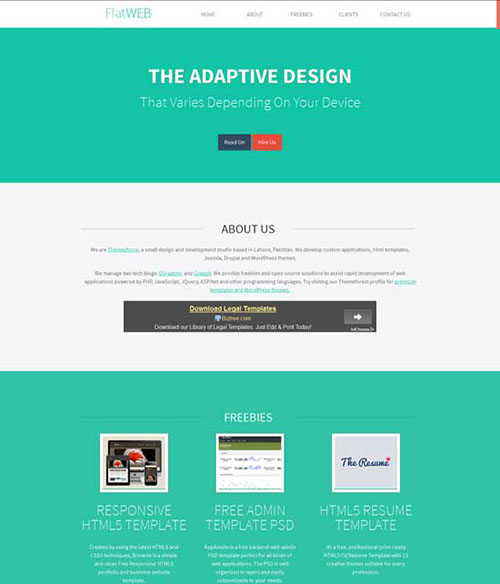 FlatWEB A Single Page Responsive Free Website HTML5 CSS3 Template