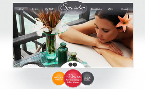 Free XHTML5 CSS3 Template Spa Salon