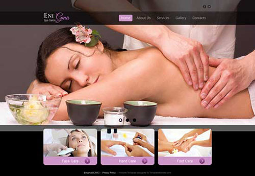 free html5 css3 templates Spa Salon Site
