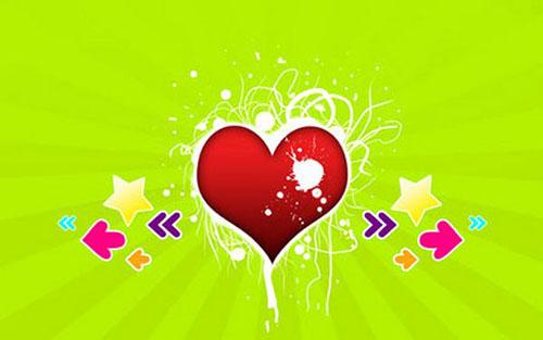 Splash My Heart Wallpaper1 Valentine Design