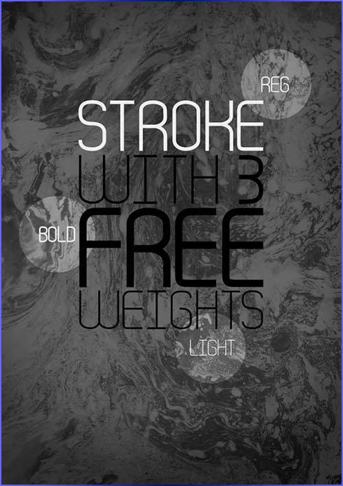 Stroke - Free font