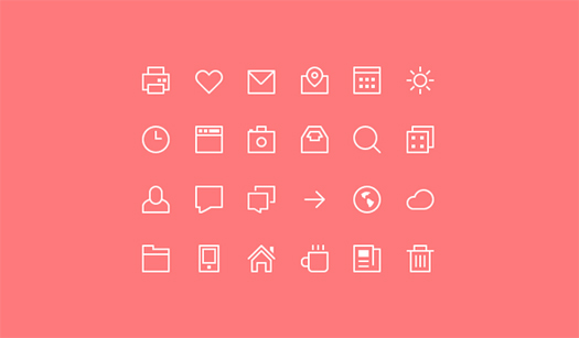 Thin Stroke Vector Icons