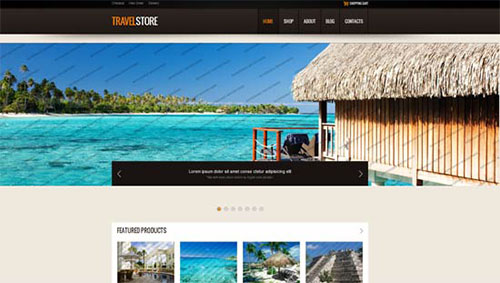 Travel Store HTML5 Template