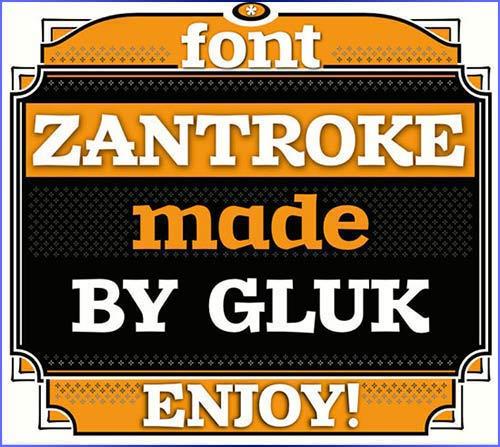 Zantroke Free Font