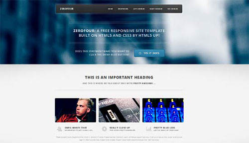 Zerofour HTML5 template