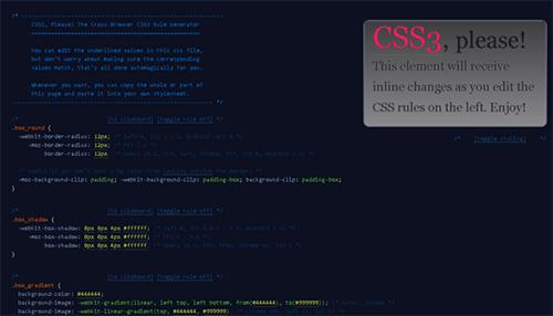 css3 Rule Generator