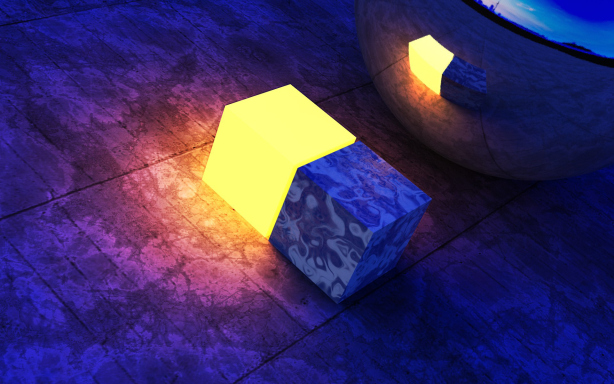 Light Cubes Desktop Wallpapers