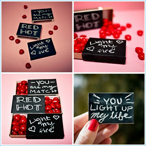 Love Note Matchboxes