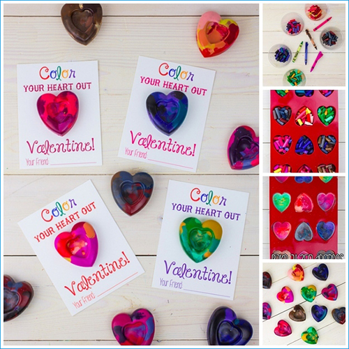 Heart Crayon Cards