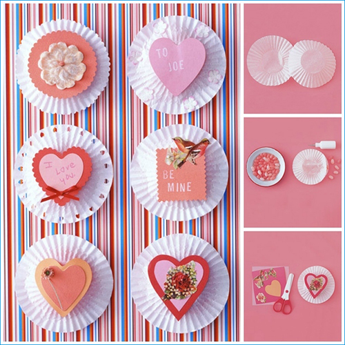 Cupcake Liner Candy Cards