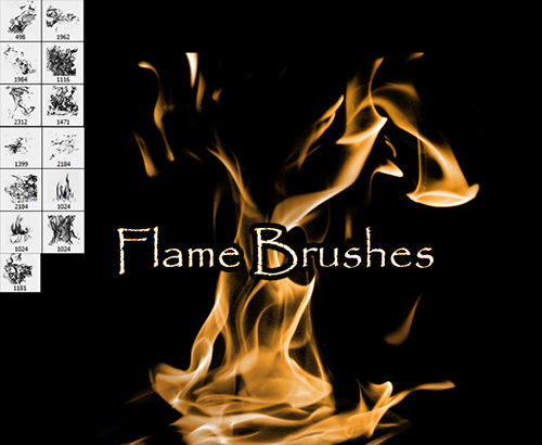 flame_free_Photoshop_brushes