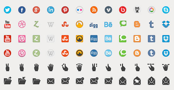 Free Beautiful Icons Set PSD