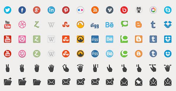 Free Beautiful Icons Set PSD