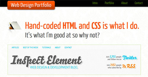 Page Portfolio with HTML5 and CSS3