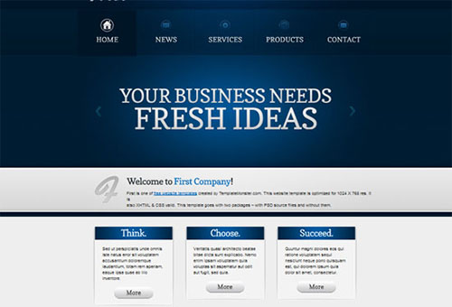 Free Efficient Business HTML5 CSS3 Template