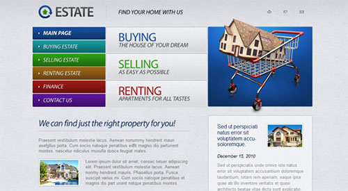 Free Real Estate HTML5 CSS3 Website Template
