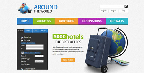 Free Travel HTML5 CSS3 Website Template
