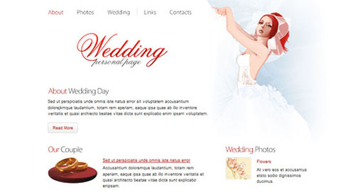 Free Wedding HTML5 CSS3 Website Template
