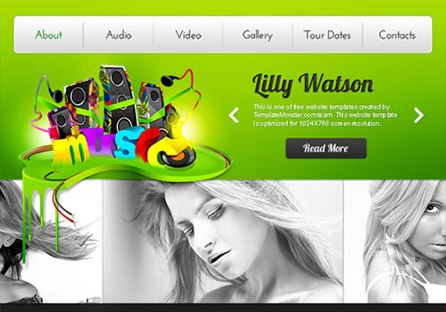 Free Music HTML5 CSS3 Website Template