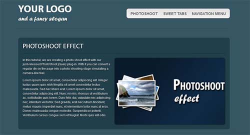 XHTML & CSS3 One-Page Template