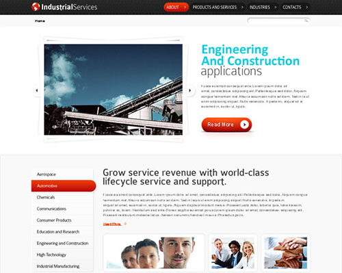 HTML5 Website Template for Industrial Business