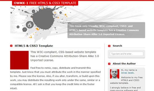 HTML5 & CSS3 Website Template - OWMX-1