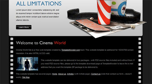 World cinema template