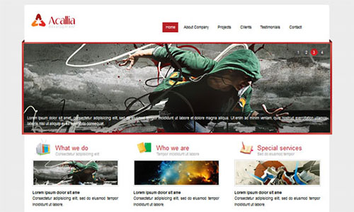 Acallian HTML5 and CSS3 Templates Free