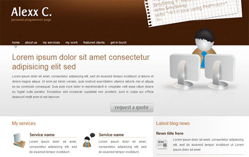 Alexx  HTML5 and CSS3 Templates