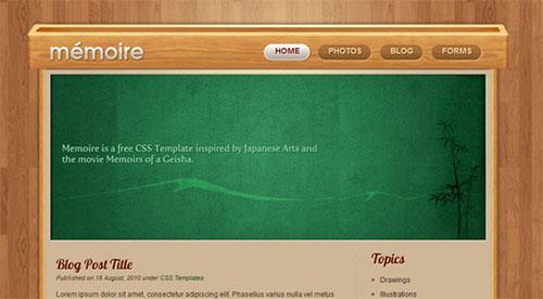 Free Website Template - Memoir