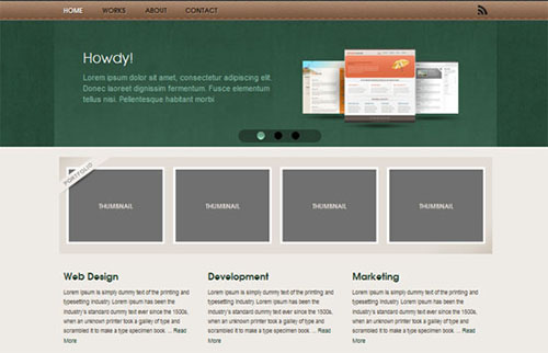 Free Website Template - Studio One