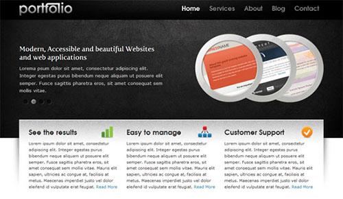 Free Website Template - Portfolio