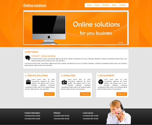 Online Solutions HTML5 and CSS3 Template