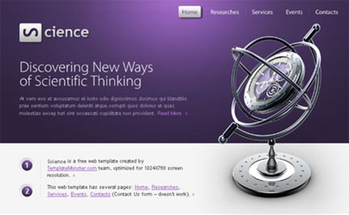 Science HTML5 Template