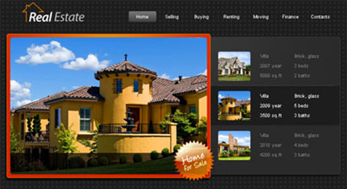 HTML5 Template - Real Estate Website