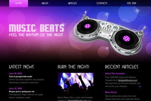 HMTL5/CSS3 Music Template