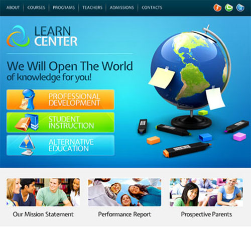 Website Template - Learning Center