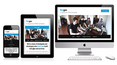 flexgen Free Responsive HTML5 Single-Serving Template