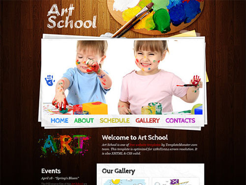 html5css3templates - Art School Template
