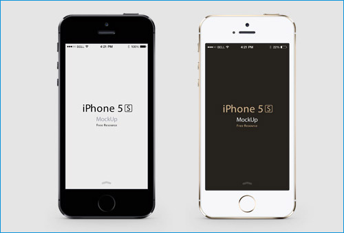 iPhone 5S front mockup