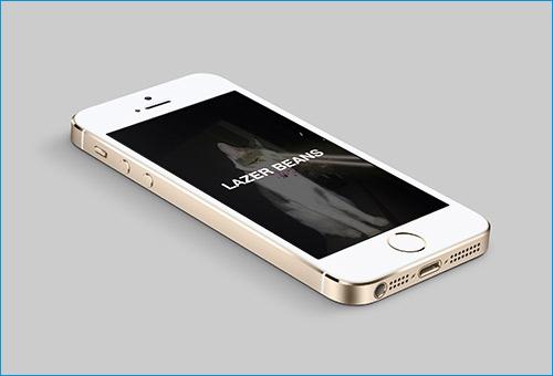 Gold mockup iPhone 5S