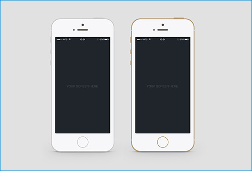 iphone flat black white psd