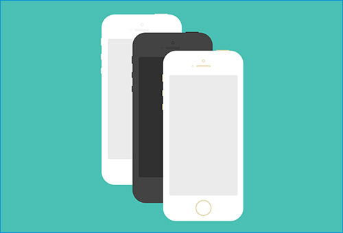 iPhone 5S Flat Design