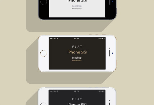 iPhone 5S Flat Design Mockup